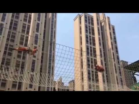 Just like Spiderman! Chinese firefighters showcases their superb agility in SE China's Jiangxi