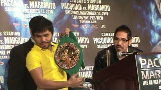 Pacquiao steals WBC Belt from Margarito