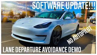Why You Need To Buy A Tesla Model 3 | Lane Departure Avoidance Demo | Tesla Software Update