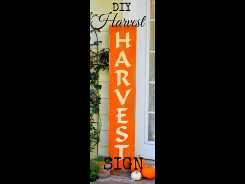Fall Harvest sign and How to Hand Paint Lettering