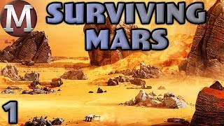 Let's Play Surviving Mars - Part 1 - Mars Colony Management Game!