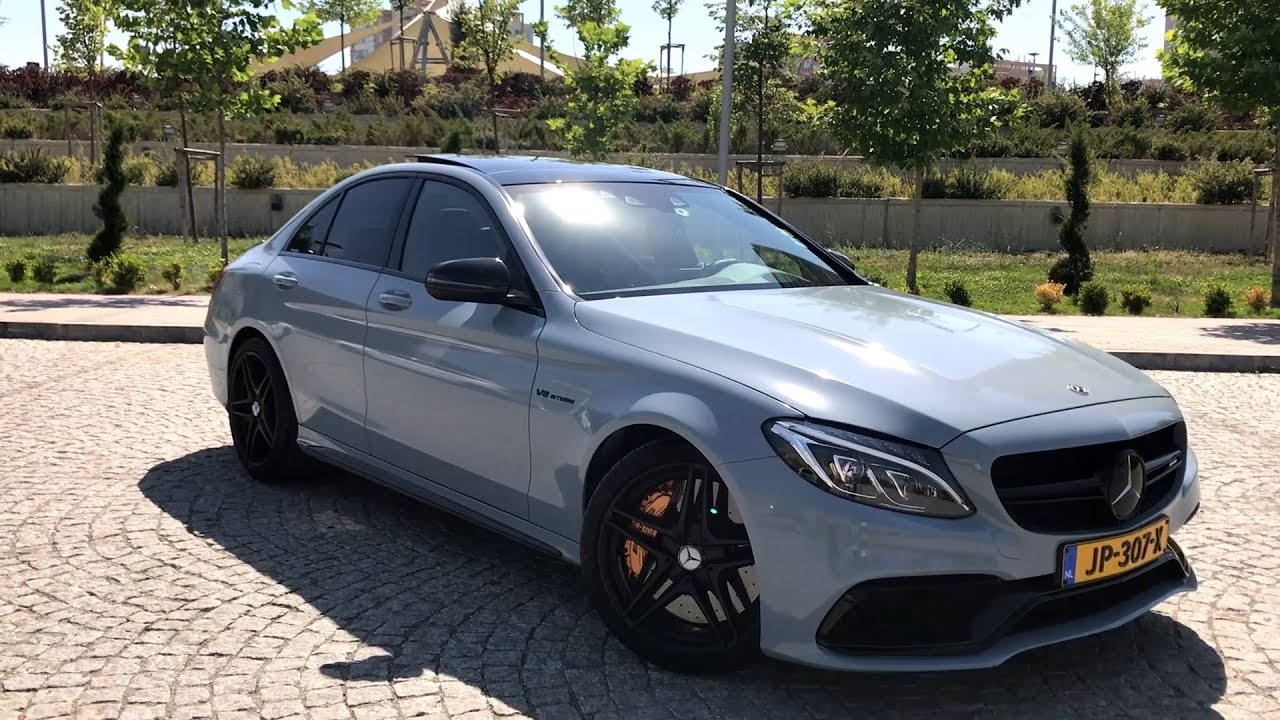 mercedes c63s mouse gray ara kaplama gmg garage youtube. Black Bedroom Furniture Sets. Home Design Ideas