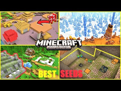 Minecraft PE Best Seeds - Mushroom Village, Jungle Temple IN Village & MORE | Bedrock Edition 1.13