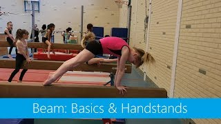 Beam with the little ones » Basics & Handstands