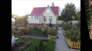 Моя дача  Красивый проект, интересный ландшафтный дизайн(My cottage a beautiful project)