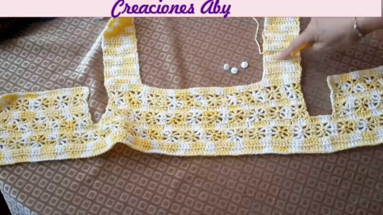 Canesu Tejido a Crochet - YouTube