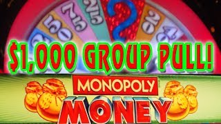 Monopoly Money WHEEL SPIN ★ HIGH LIMIT $1,000 GROUP PULL➜ 5/6