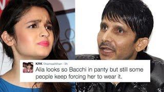 Alia Bhatt Finally Reacts At KRK's Nasty Comment Over Her Bikini Look!