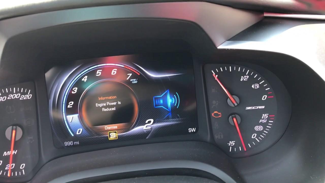 2017 Corvette C7 Z06 7MT Cooling Issue limp mode