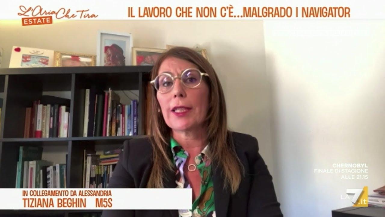 Tiziana Beghin a L'Aria che Tira, La7