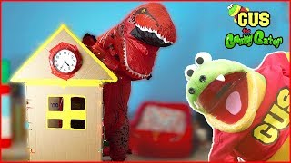 GIANT Cardboard Time Machine BOX FORT CHALLENGE! + Giant Dinosaurs