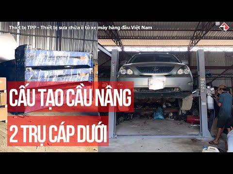 Cấu tạo chi tiết cầu nâng ô tô 2 trụ thuỷ lực