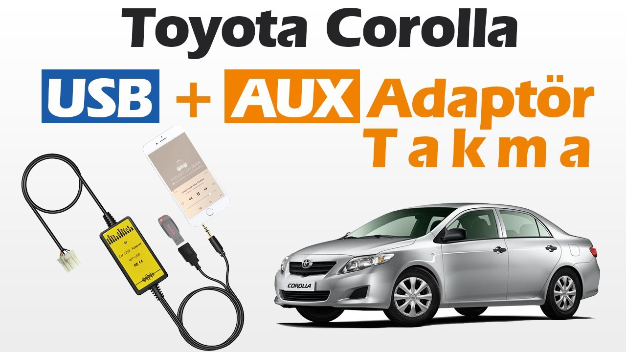 Toyota Corolla (2005-2012) USB & AUX Adaptör Takma İşlemi