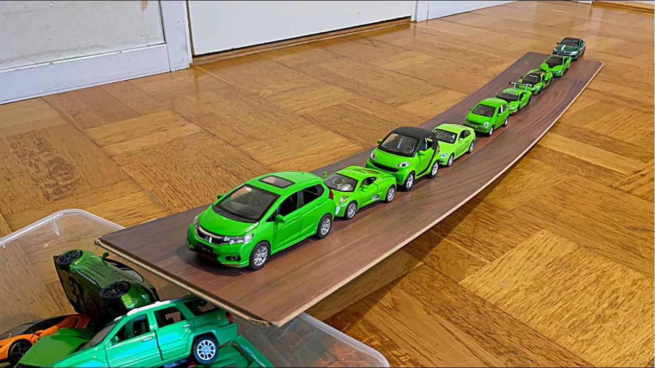 Diecast Model Cars Moving Up Into The Box - HDR Video