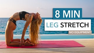 8 MIN LEG STRETCH - short & relaxing for thighs, hamstrings & your butt I Pamela Reif