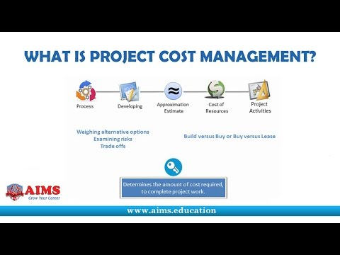 What is Project Cost Management? Tools, Techniques and Processes for PMP & PMBOK | AIMS Lecture