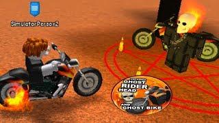 Noob com Ghost Rider! Noob para pro! -Simulador de treinamento Super Power (ROBLOX)