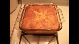 How to make peach cobbler - EASY !