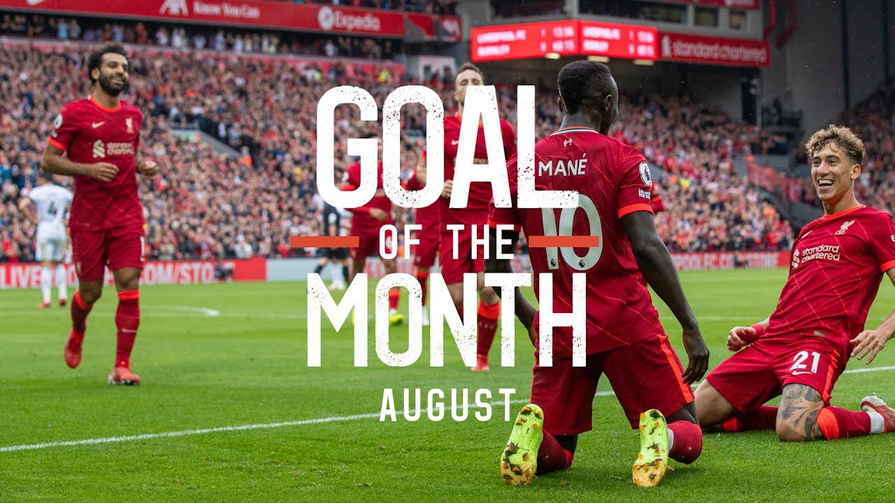 August's Goal of the Month result   Mo Salah, Kaide Gordon, Sadio Mane?