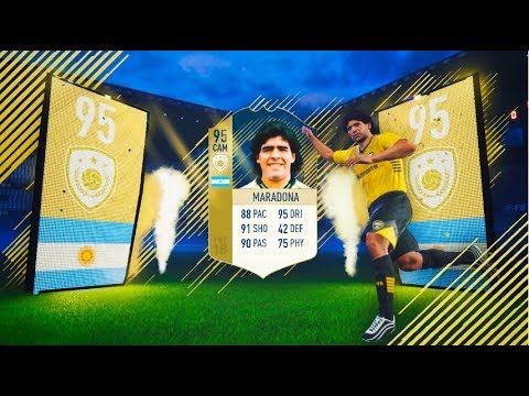 MARADONA ICONO 95 IN A PACK!!! | TOP SOBRES #1 |  FIFA 18