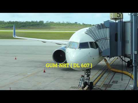 Delta Air Lines ( DL610 & DL607 ), flight to Guam.