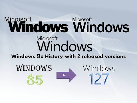 Windows 9x History with 2 released versions (1985-2027) (from Windows 85 to Windows 127)