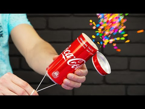 DIY Coca Cola Party Confetti Popper