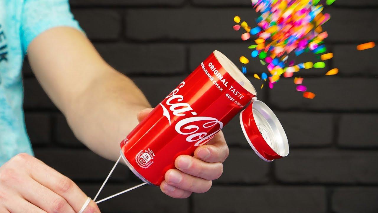 DIY Coca Cola Party Confetti Popper