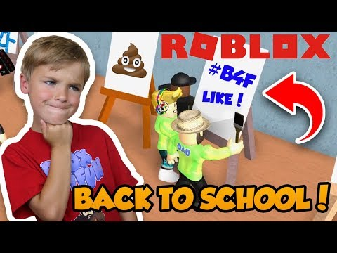WE ARE BACK TO SHCOOL in ROBLOX HIGHSCHOOL | TAKING SOME ART CLASSES