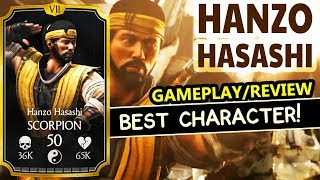 MKX Mobile 1.17. Hanzo Hasashi Gameplay, Review. BEST CHARACTER in the Update!