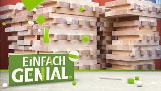 Massive Häuser aus Holzbausteinen | Einfach genial | MDR