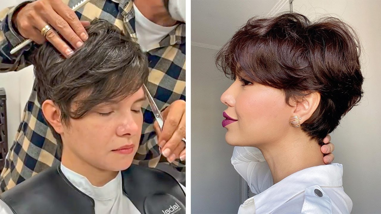 Trendy Hairstyles 2019 Hottest Short Layered Pixie Cut Trending 2019 Best Women Haircut Ideas Youtube