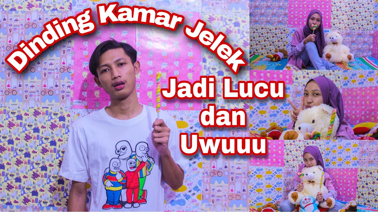 Kamar Jelek Menjadi Lucu Cuma Modal Kertas Kado Part 1 Wallpaper Dinding Youtube Dekorasi kamar dari kertas kado