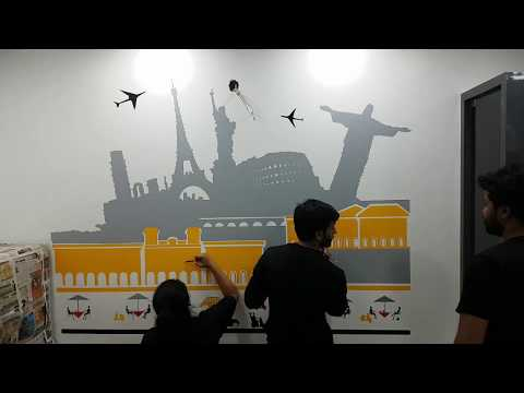WALL PAINTING FOR FLAG TRAVEL HOLIDAYS