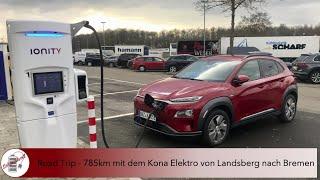 Schwunkvoll - Roadtrip - 785km mit dem Hyundai Kona Elektro von Landsberg nach Bremen
