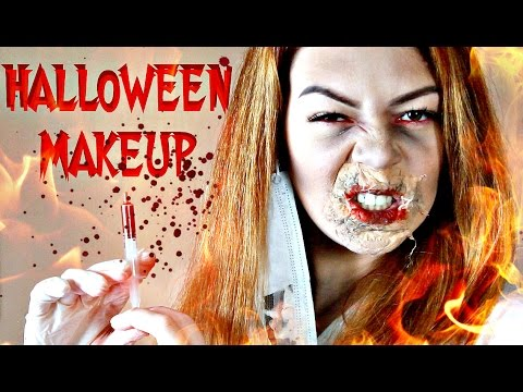 Мертвая невеста - грим маска на праздник Хэллоуин (боди арт)