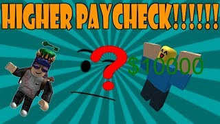 COMMENT À GET A HIGHER PAYCHECK AS A CRIMINAL IN ROBLOX JAILBREAK (plus d'argent)