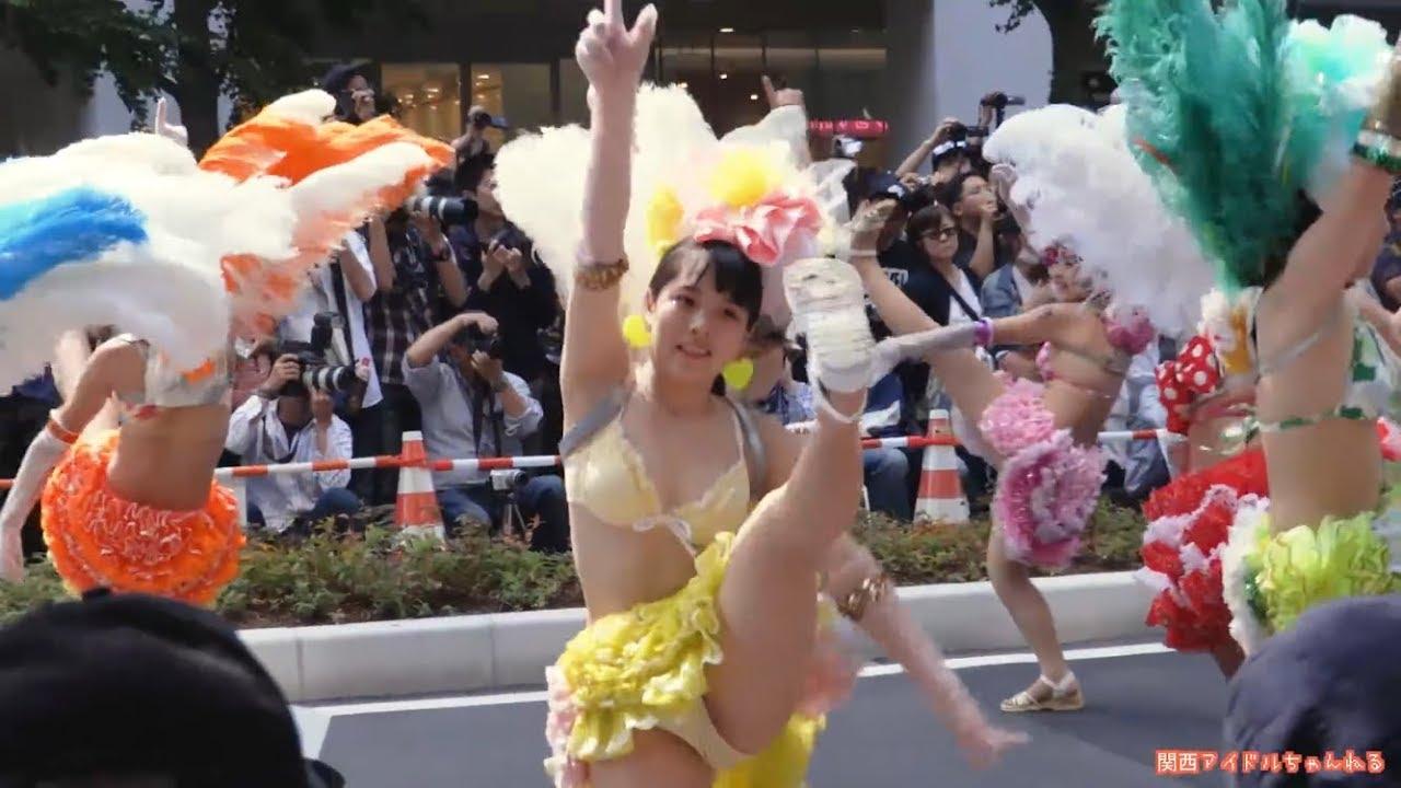サンバ少女 前編・楽しそう!(^^)! 神戸サンバチーム2018 神戸まつり長田フェスティバル 鉄人広場 SAMBA CARNIVAL (サンバカーニバル)