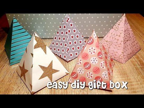Geschenkbox Pyramide Basteln Zu Weihnachten