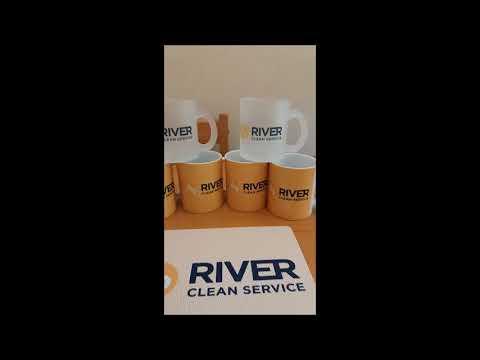 River Clean Service: Canecas e Mousepad personalizados