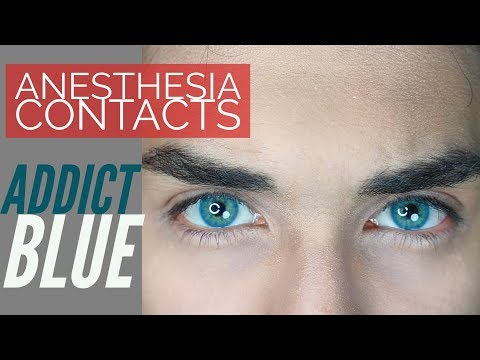 Addict Blue - Anesthesia Contact Lens Review!
