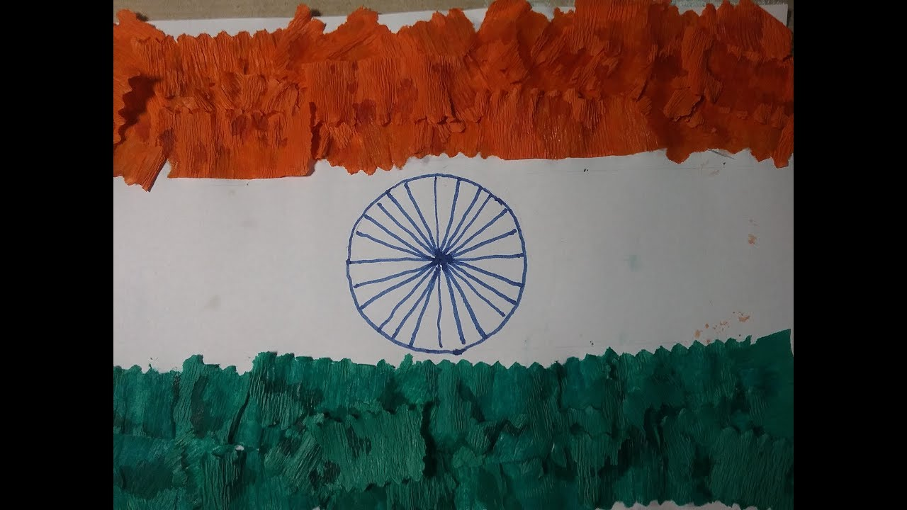 Craft For Flag Of India: How To Make India Flag With Paper, DIY How To Make India