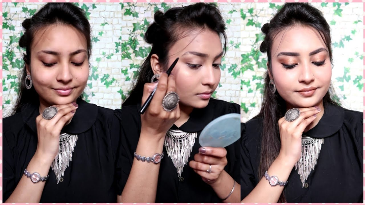 Step by Step Indian Makeup Tutorial Using Affordable Drugstore Products !! Quirkwithkomal