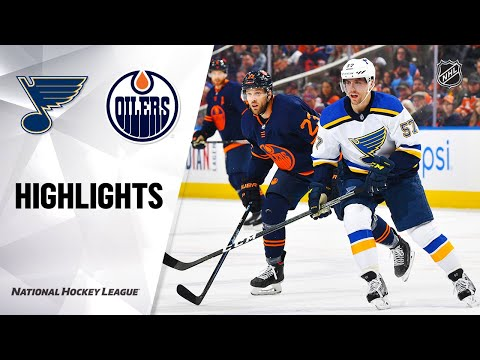 NHL Highlights   Blues @ Oilers 1/31/20
