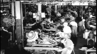 Mass Production Of Jeeps At The Willys-overland Factory In Toledo, Ohio, During W...hd Stock Footage