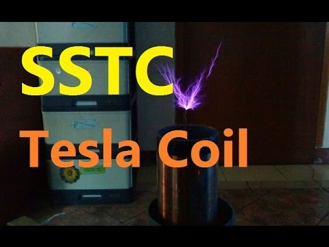 SSTC Tesla Coil with 555 IC Timer - YouTube