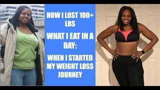 WHAT I EAT IN A DAY TO LOSE WEIGHT WHEN STARTING MY WEIGHT LOSS JOURNEY | HOW I LOST 100 POUNDS