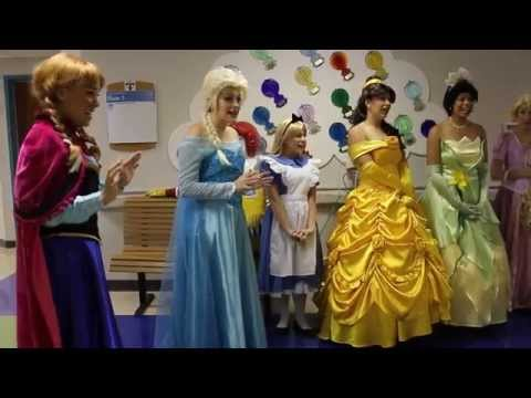 Perfectly Princess Parties Childrens Hospital Visit Let it Go