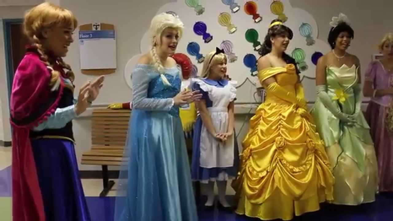 Perfectly Princess Parties Childrens Hospital Visit Let it