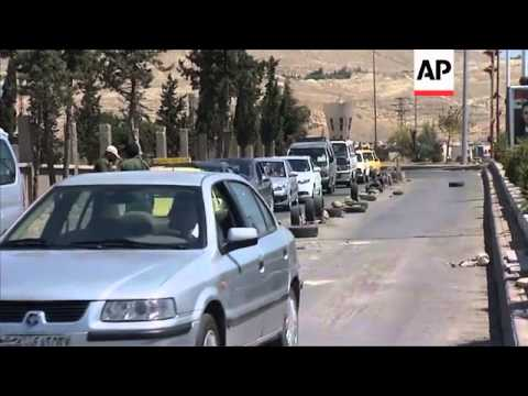 Observers tour Damascus neighbourhood, regime sets up check points